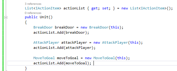 Action List Constructor